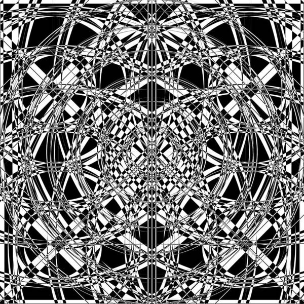 Illusion Digital Art - B W Sq 4 by Mike McGlothlen