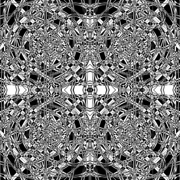 Illusion Digital Art - B W Sq 5 by Mike McGlothlen
