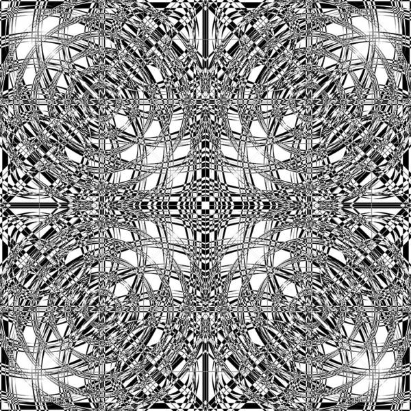 Illusion Digital Art - B W Sq 9 by Mike McGlothlen