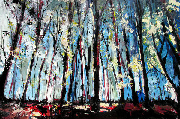 Painting - Mind Through The Trees And In The Clouds  by John Jr Gholson