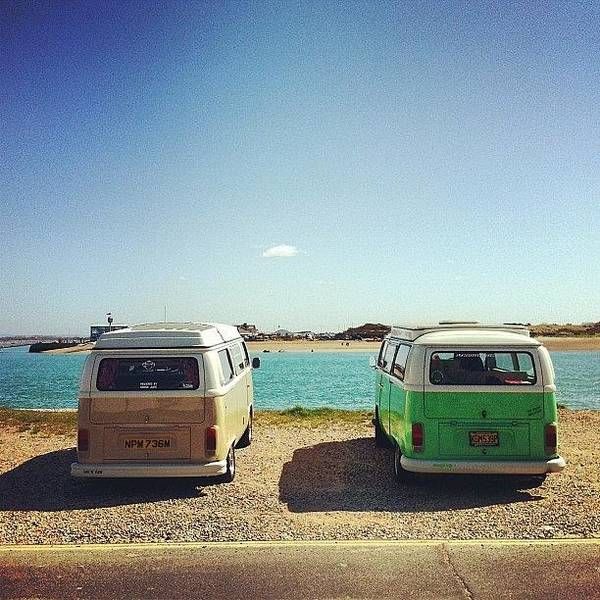 Vw Kombi Photograph - Mine And My Dads Buses Down The Beach by Jimmy Lindsay