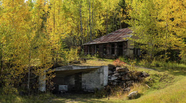 Canmore Wall Art - Photograph - Mine Shaft Entrance And Building by Panoramic Images