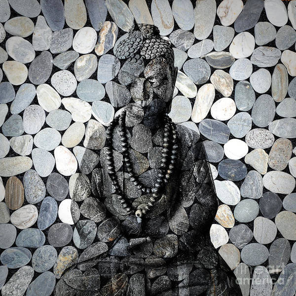 Mosaic Photograph - Mineral Buddha by Delphimages Photo Creations