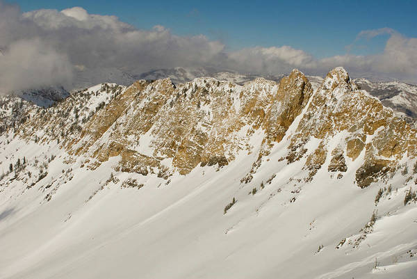 Ski Tracks Wall Art - Photograph - Mineral Fork, Big Cottonwood Canyon by Howie Garber