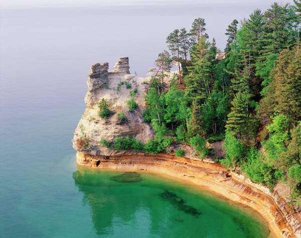Coastline Photograph - Miners Castle In Pictured Rocks by Danita Delimont