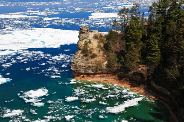 Photograph - Miners Castle On Ice 2 by Rachel Cohen