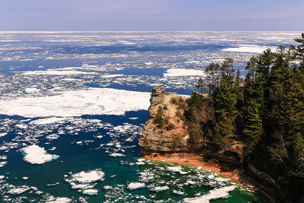 Photograph - Miner's Castle On Ice by Rachel Cohen