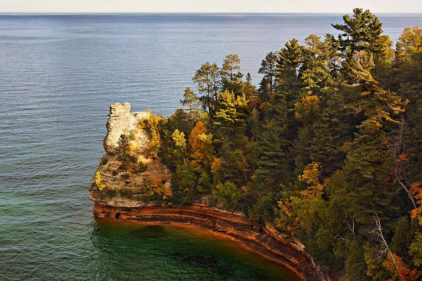 Photograph - Miners Castle Rock In Autumn by Theo O'Connor