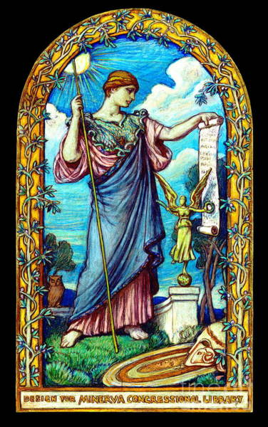 1896 Photograph - Minerva Mosaic Design 1896 by Padre Art