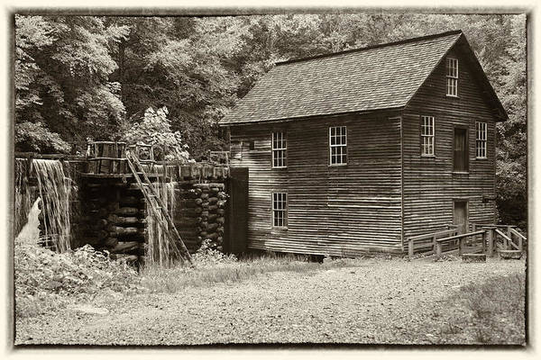 Millrace Wall Art - Photograph - Mingus Mill Antiqued by Stephen Stookey