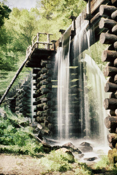 Millrace Wall Art - Photograph - Mingus Mill Millrace by Priscilla Burgers