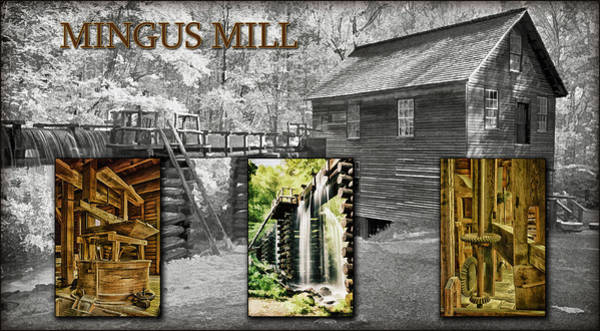 Millrace Wall Art - Photograph - Mingus Mill Montage by Priscilla Burgers