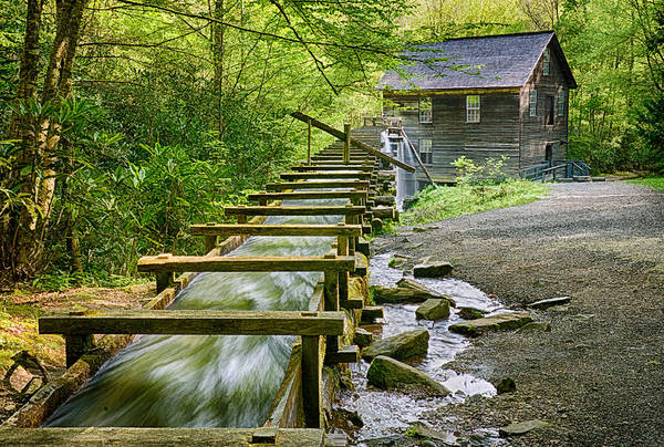 Millrace Wall Art - Photograph - Mingus Mill by Priscilla Burgers