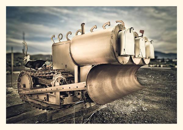Bulldozer Photograph - Mini Excavator Mailbox by Yo Pedro