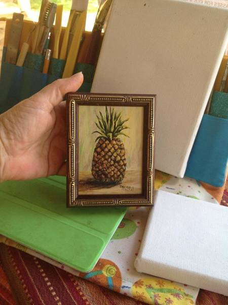 Painting - Mini Pineapple by Darice Machel McGuire