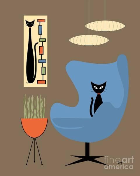 Digital Art - Mini Rectangle Cat by Donna Mibus