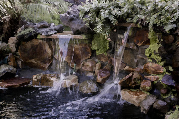 Digital Art - Waterfall by Photographic Art by Russel Ray Photos