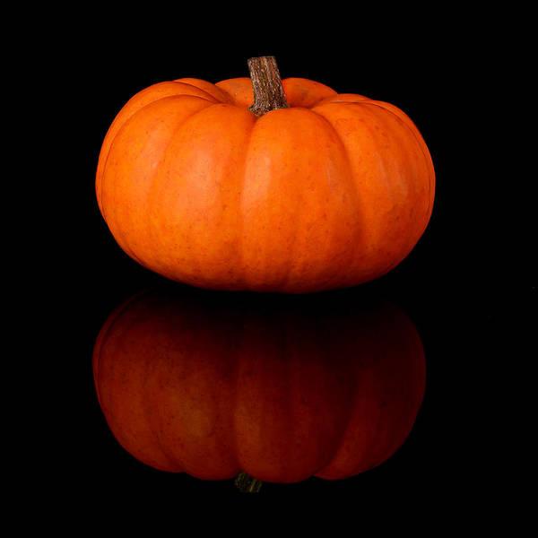 Photograph - Miniature Pumpkin by Jim Hughes