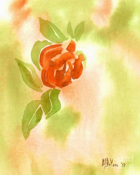 Wall Art - Painting - Miniature Red Rose II by Kip DeVore