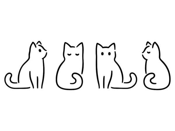 Minimal Cat Drawing Art Print by Sudowoodo