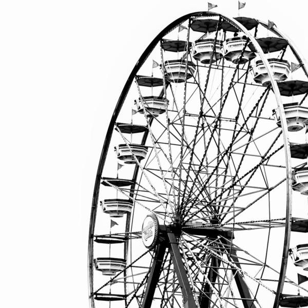 County Fair Wall Art - Photograph - Minimalist Ferris Wheel - Square by Jon Woodhams