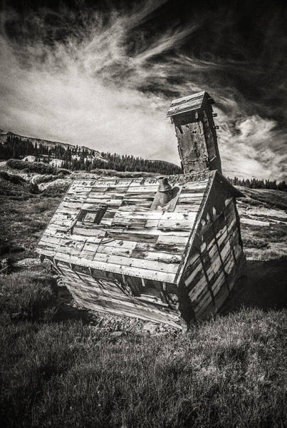 Utility Pole Photograph - Quartz Mountain 4 by Yo Pedro