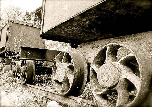 Photograph - Mining Cars by Kim Pippinger