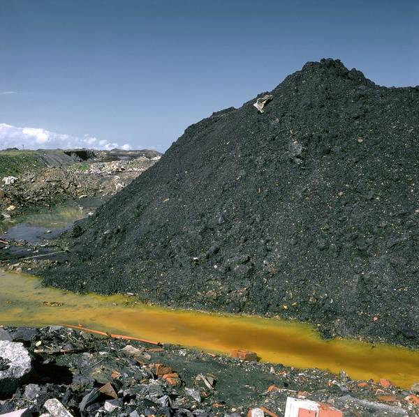 Northumbria Photograph - Mining Waste by Robert Brook/science Photo Library
