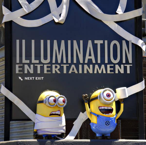 Illuminations Photograph - Minions Are Sneaky by Ricky Barnard