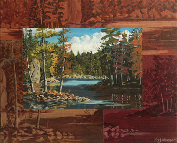 Painting - Mink Lake Exit by David Gilmore