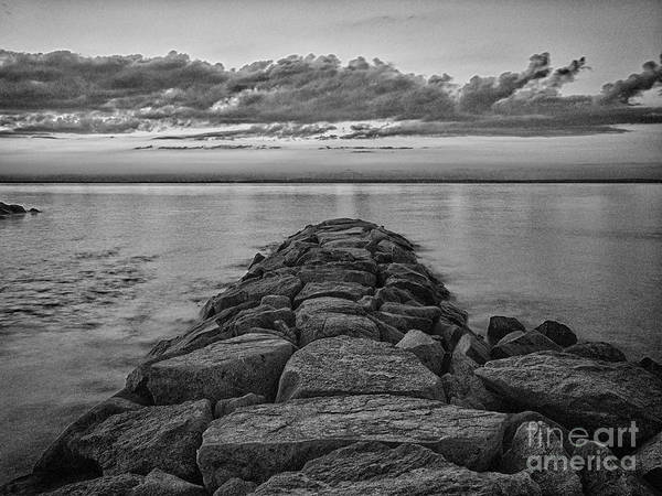 Photograph - Mink Meadow Jetty In Black And White by Mark Miller