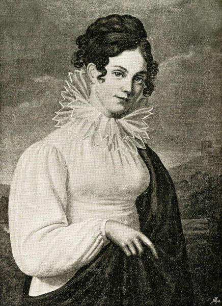 Wall Art - Drawing - Minna Herzlieb  Associate Of Goethe by Mary Evans Picture Library