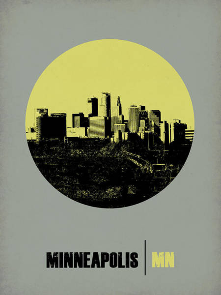 Architectural Digital Art - Minneapolis Circle Poster 2 by Naxart Studio
