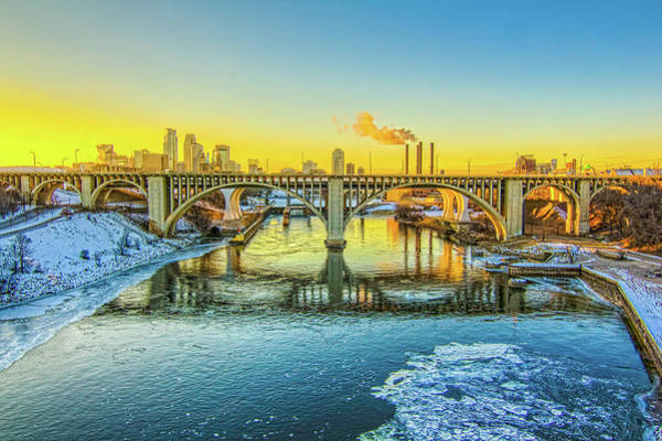 Physical Features Wall Art - Photograph - Minneapolis City View by Saibal