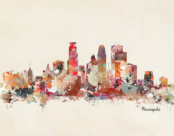 Minneapolis Painting - Minneapolis Minnesota by Bri Buckley