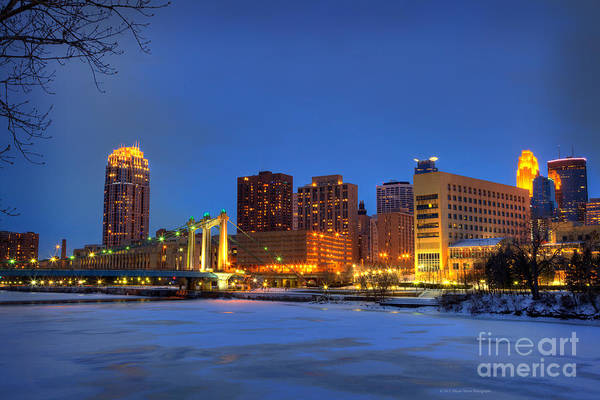Wall Art - Photograph - Minneapolis Skyline Photography Hennepin Avenue Bridge by Wayne Moran