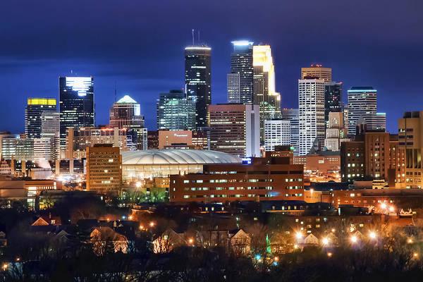 Wall Art - Photograph - Minneapolis Twilight by Near and Far Photography