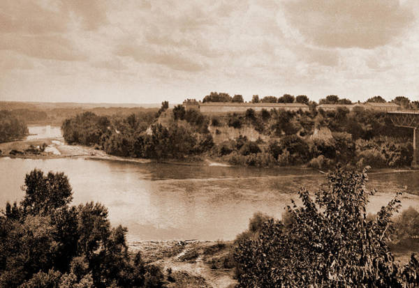 Mississippi River Drawing - Minnesota, Mississippi River At Winona, Rivers, Bridges by Litz Collection