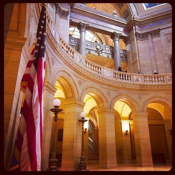 Landmark Wall Art - Photograph - Minnesota State Capitol Building by Heidi Hermes