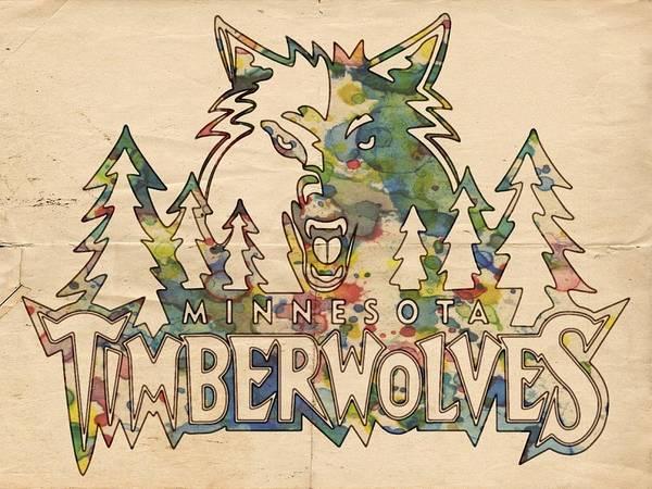 Slamdunk Painting - Minnesota Timberwolves Poster Art by Florian Rodarte