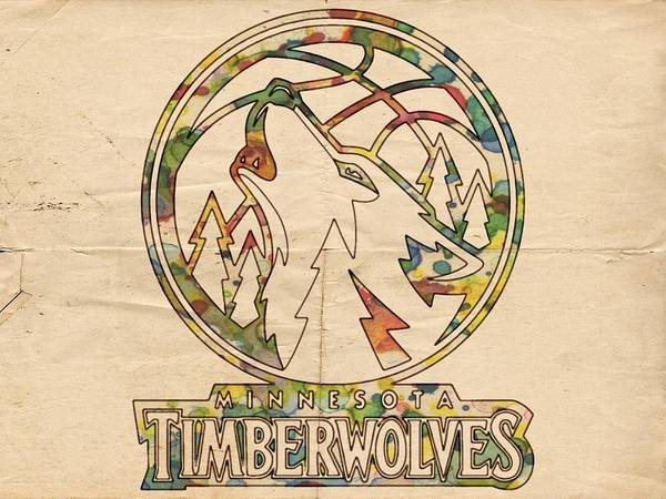 Painting - Minnesota Timberwolves Retro Poster by Florian Rodarte