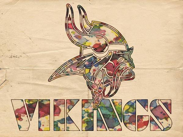 Painting - Minnesota Vikings Poster Art by Florian Rodarte