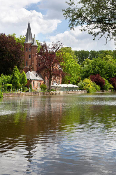 Belgium Photograph - Minnewater House In Bruges, Belgium by Michaelutech