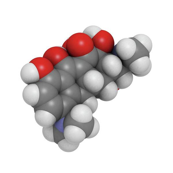 Tab Photograph - Minocycline Antibiotic Molecule by Molekuul/science Photo Library