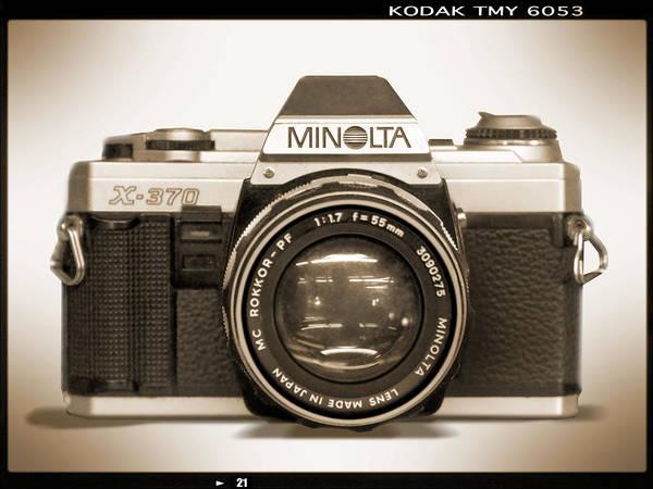 Wall Art - Photograph - Minolta X-370 by Mike McGlothlen
