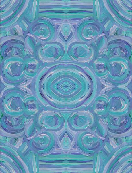 Painting - Mint Swirl Vertical by Barbara St Jean