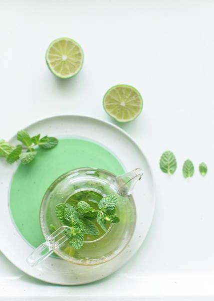 Teapot Photograph - Mint Tea by Ingwervanille