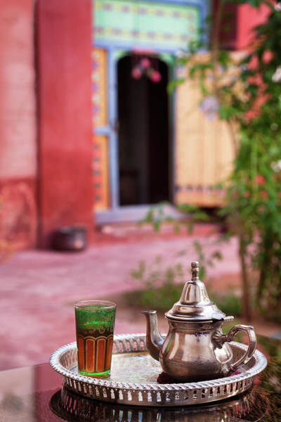 Casbah Photograph - Mint Tea Served In Moroccan Riad by Nicolamargaret