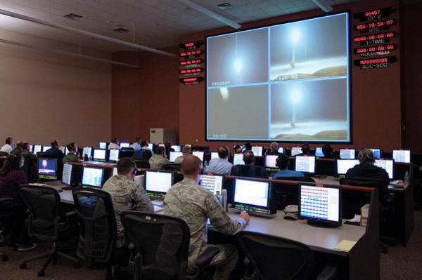 Military Air Base Photograph - Minuteman IIi Nuclear Missile Test by Us Air Force, Michael Peterson