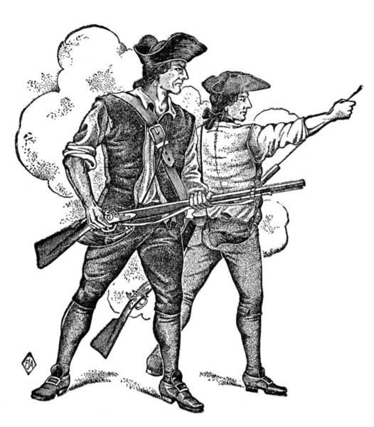Photograph - Minutemen, 1770s by Granger
